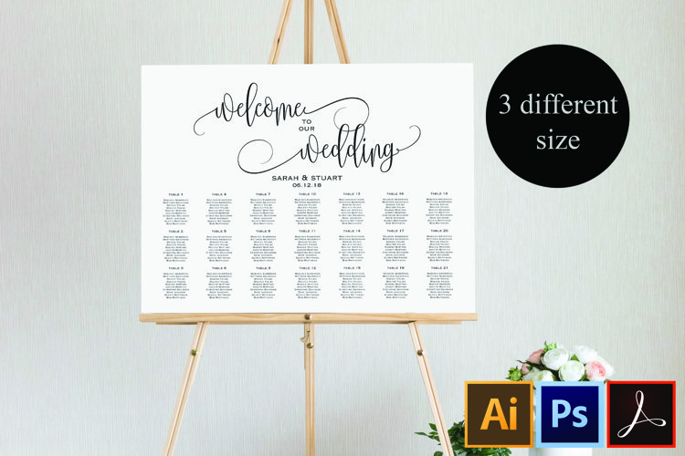 Wedding Seating Chart Template Welcome Wedding Seating Chart 360312 Card And Invites Design Bundles