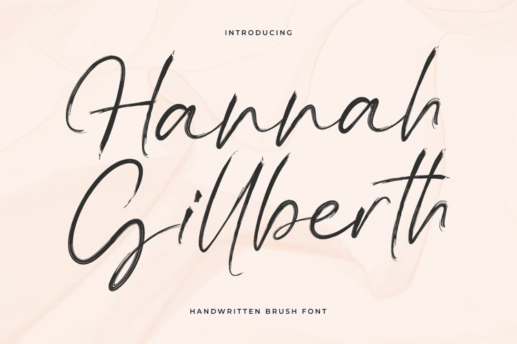 Hannah Gillberth Handwritten Brush Font example image 1