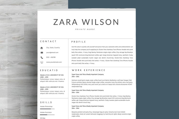 Chic Resume Template CV