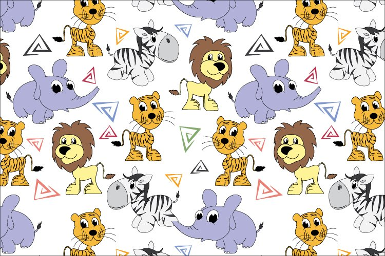 cute animal seamless pattern example image 1