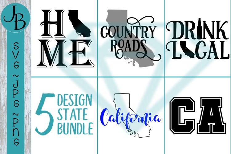 California State Pride Bundle, CA SVG Bundle