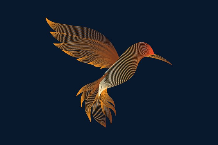 Gold bird logo template example image 1
