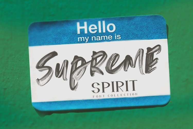 Supreme Spirit Fonts and SVG example image 1