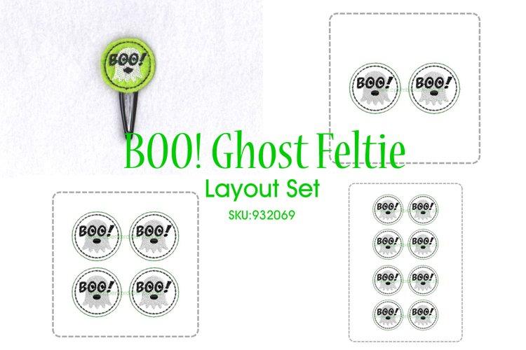 Boo! Ghost ITH Halloween Feltie Embroidery Design