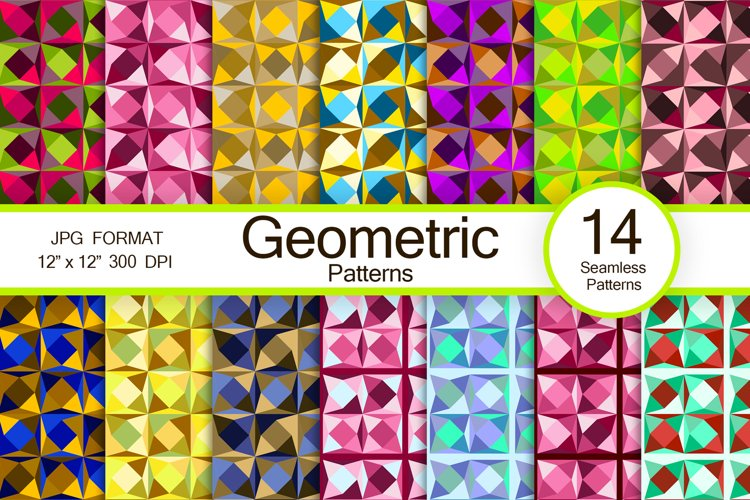 Geometric abstract patterns from digital papers example image 1