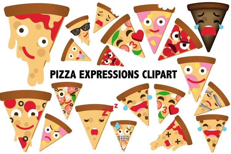 Pizza Expressions Clipart