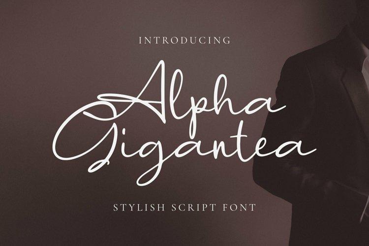 Web Font Alpha Gigantea Font example image 1