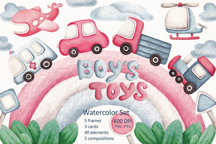 Watercolor Set Boys Toys example image 1