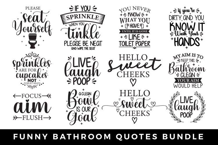 Funny Bathroom Quotes Bundle Bathroom Signs Svg Bundle 786690 Cut Files Design Bundles