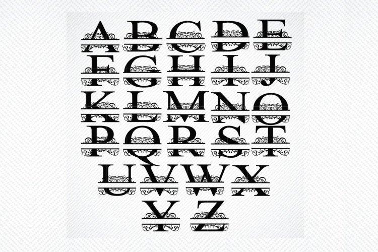 Split Letter Monogram SVG, Split Letter Monogram