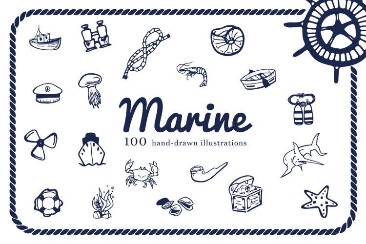 Hand Drawn Illustrations -Marine- example image 1
