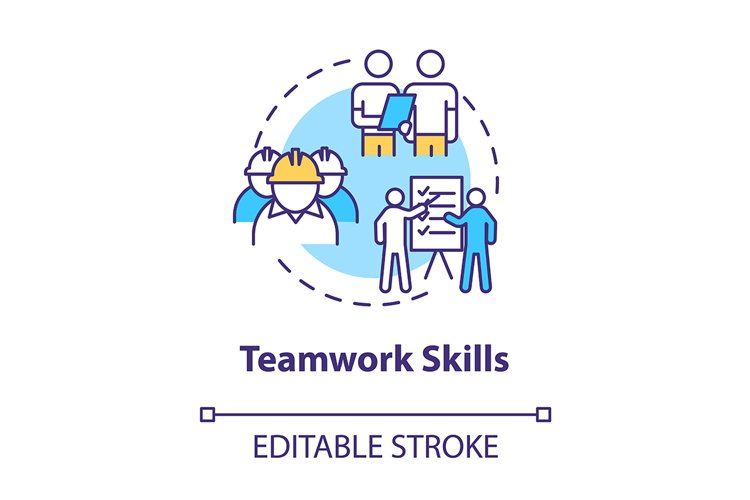 Teamwork skill concept icon example image 1