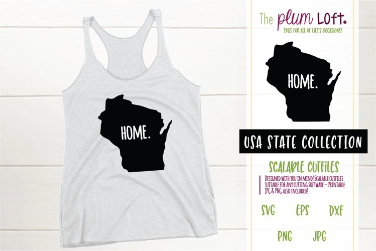 Wisconsin Home - SVG design example image 1