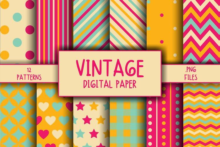 Vintage Pattern Digital Paper example image 1