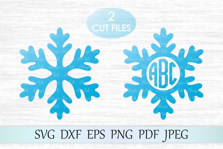 Snowflake svg, Snowflake monogram svg, Snowflake clipart example image 1