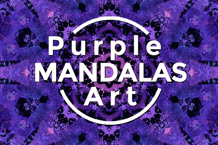 Purple MANDALAS Art example image 1