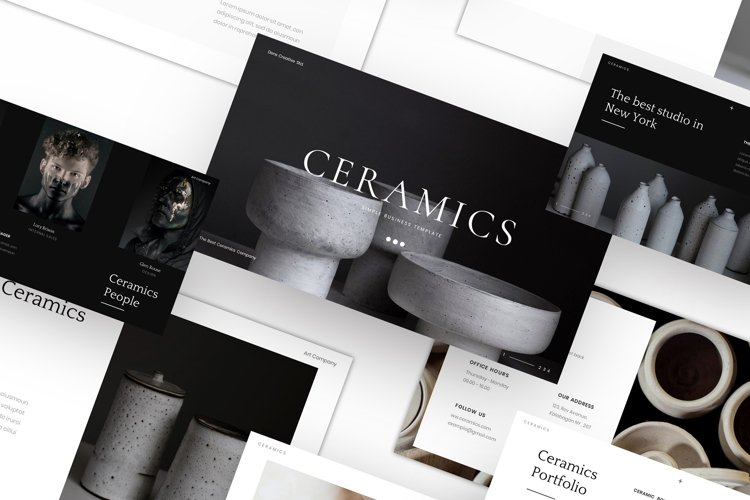 Ceramics - Simple Business PowerPoint Template example image 1