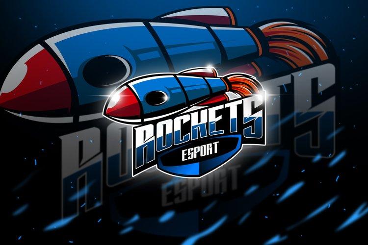 Rockets - Mascot & Esport Logo example image 1