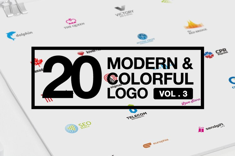 20 Modern & Colorful Logo Vol 3 AI EPS CDR PDF