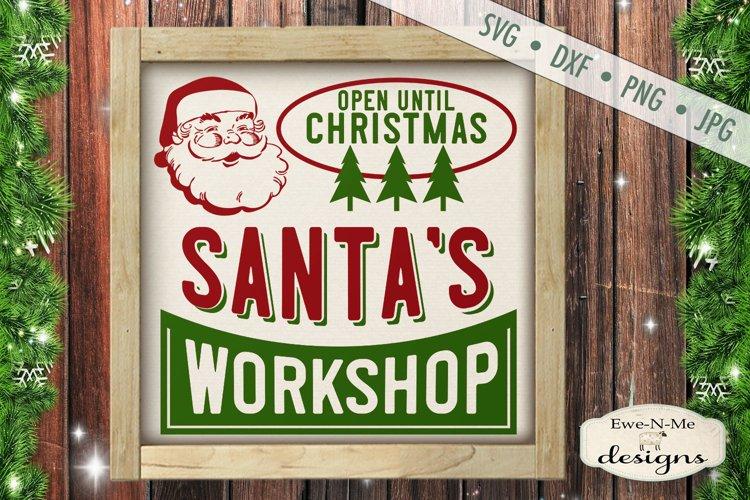 Santas Workshop - Retro Christmas - SVG DXF example image 1