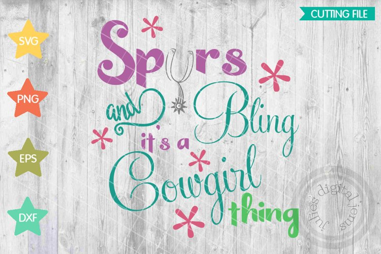 Cowgirl svg, Cowgirl svg, Spurs svg, Bling, Cowgirl thing example image 1