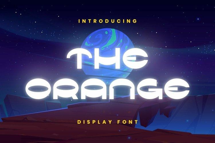 Web Font The Orange Font example image 1