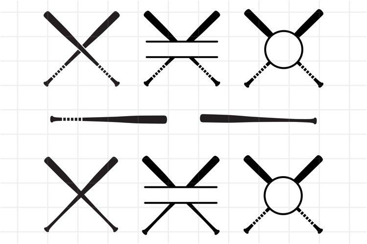 Download Baseball Monogram Svg Cut File Criss Cross Softball Bat 730255 Cut Files Design Bundles