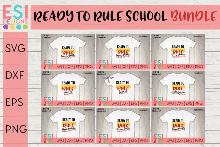 Back to School Bundle SVG   Teacher, Ready to Rule School example image 1