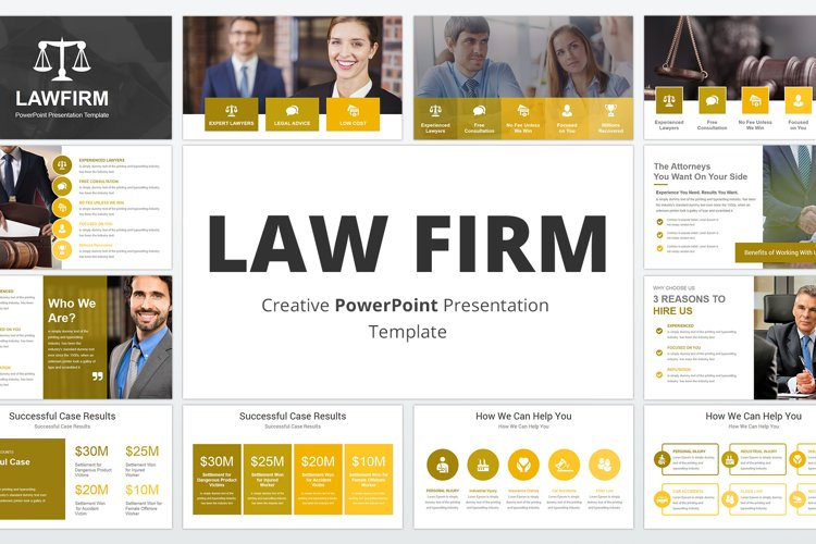 Law Firm PowerPoint Presentation Template example image 1