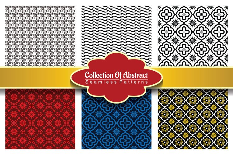 6 Collection Of Abstract Seamless Pattern Vol.2 example image 1