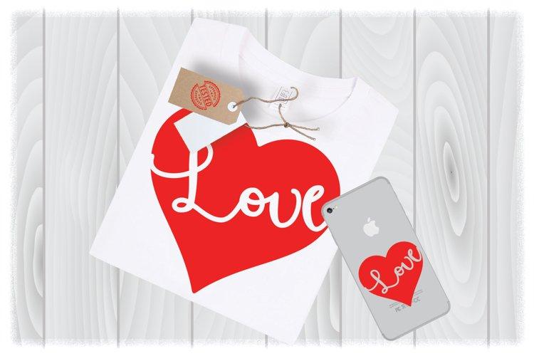 Love Heart Svg Files For Cricut Designs | Valentine SVG File example image 1
