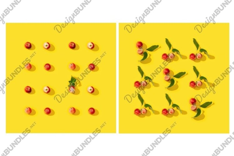 Little red apples pattern or postcard example image 1
