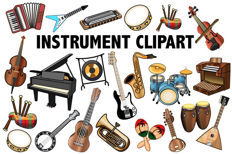 Musical Instrument Clipart example image 1