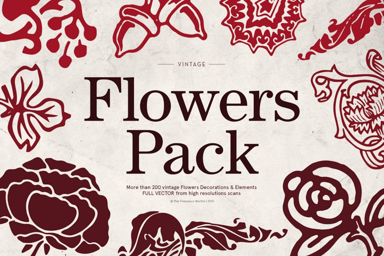 Flowers PACK (200 Items)