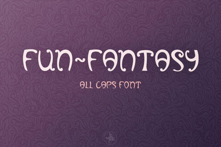 Fun-Fantasy - all caps display font, OTF, TTF example image 1