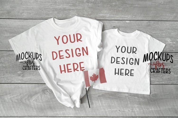 Adult, Youth, Child tshirts - mock-up - Canadian theme example image 1