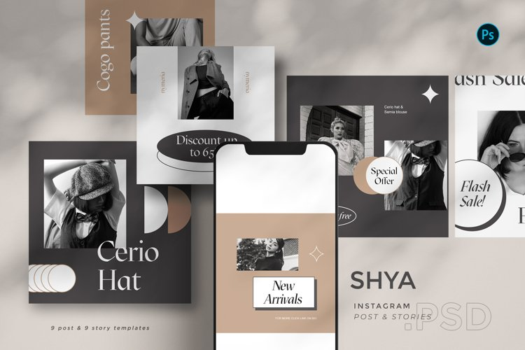 Shya - Instagram Template Set BL example image 1