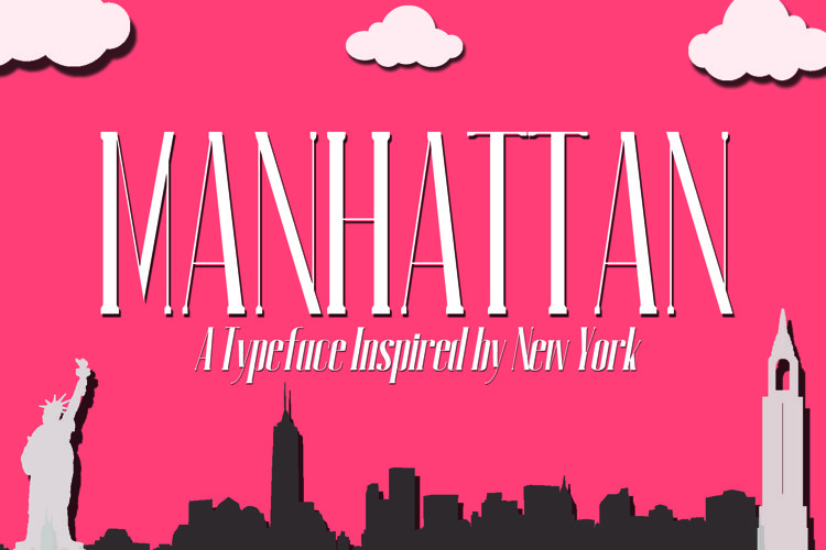 MANHATTAN A New York Typeface example image 1