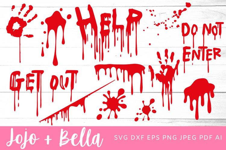 Blood SVG Bundle | Blood SVG | Halloween SVG example image 1
