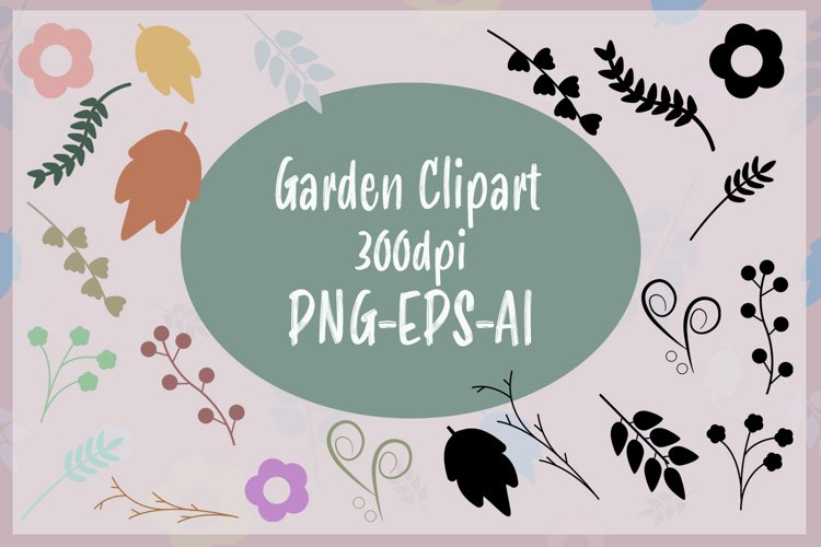 Garden Spring Icons Leafs and Branch EPS AI PNG Clipart