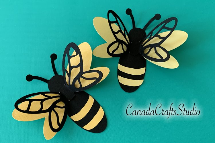 3D Bumble Bee SVG DXF Template