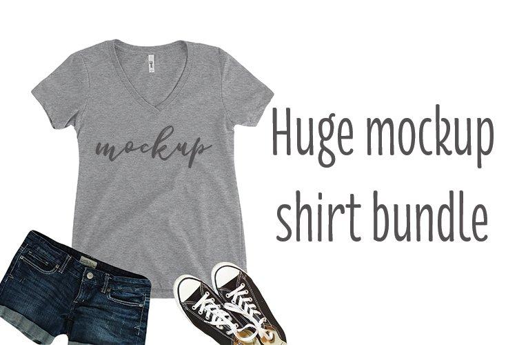 Huge 27 shirt Mockup bundle set example image 1