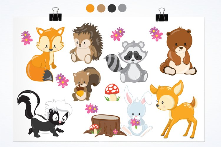 Woodland Animals graphics and illustrations - Free Design of The Week Design0