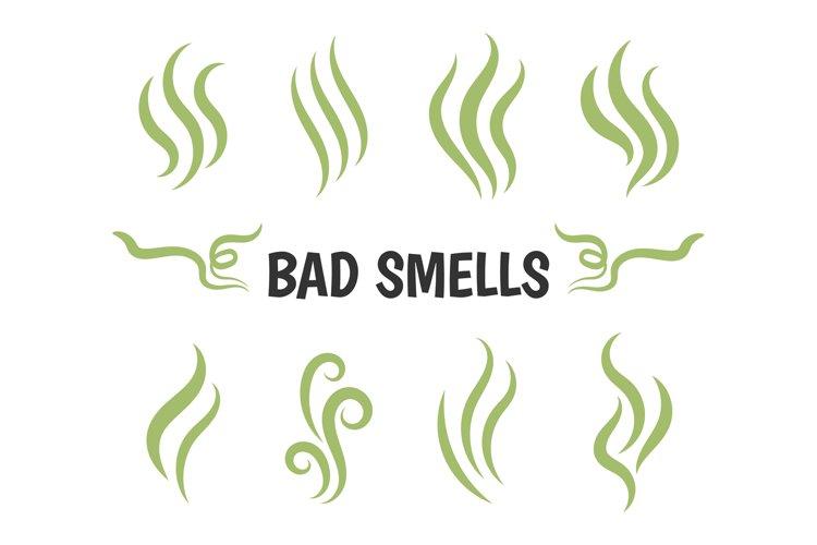 Bad smells isolated smoke icons example image 1