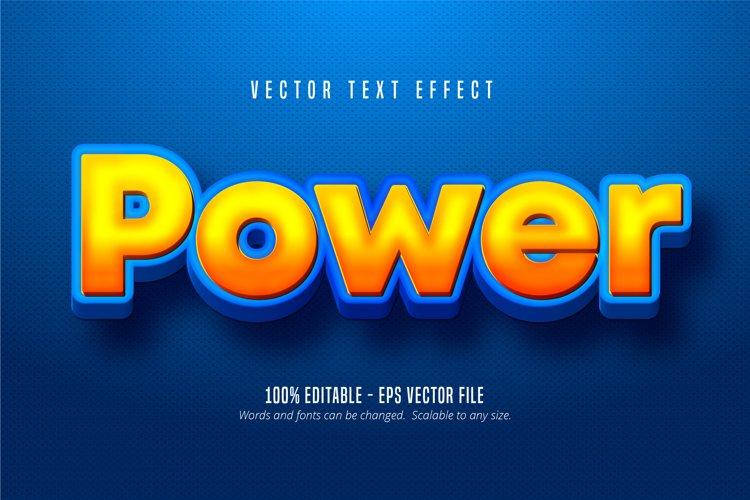 Power text, cartoon style editable text effect example image 1