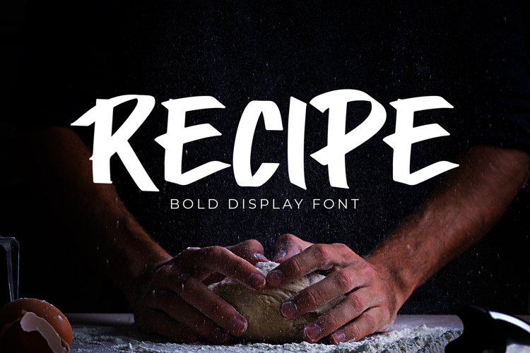 Recipe Bold Display Font example image 1