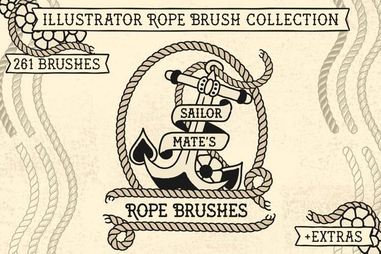Sailor Mate's Rope Brush Collection example image 1