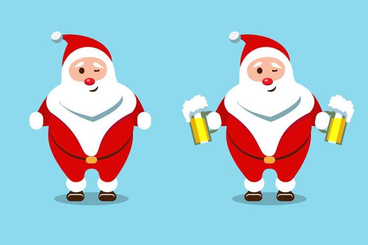 Santa Claus Christmas character set of 8 illustrations example 2