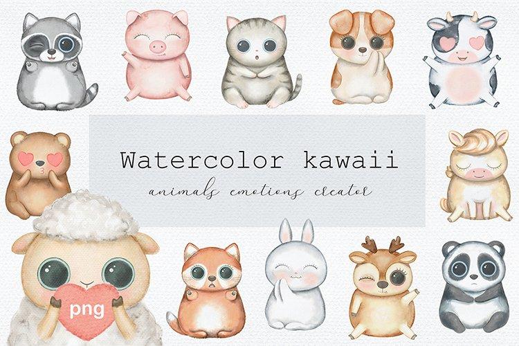 Watercolor kawaii
