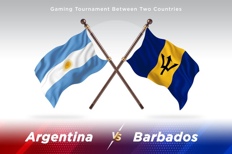 Argentina vs Barbados Two Flags example image 1
